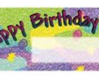 Birthday 2 Personalized Candy Bar Wrappers 10pk
