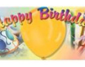 Birthday Colors Personalized Candy Bar Wrappers 10pk
