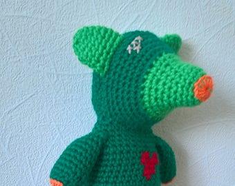 Crocheted stuffed Fantasy animal toy