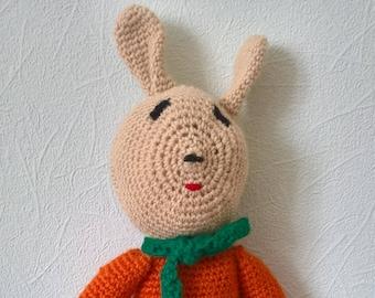 Crocheted stuffed Bunny toy