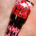 Custom made stainless steel Hogg tumbler one of a kind the walking Dead themed 24 oz