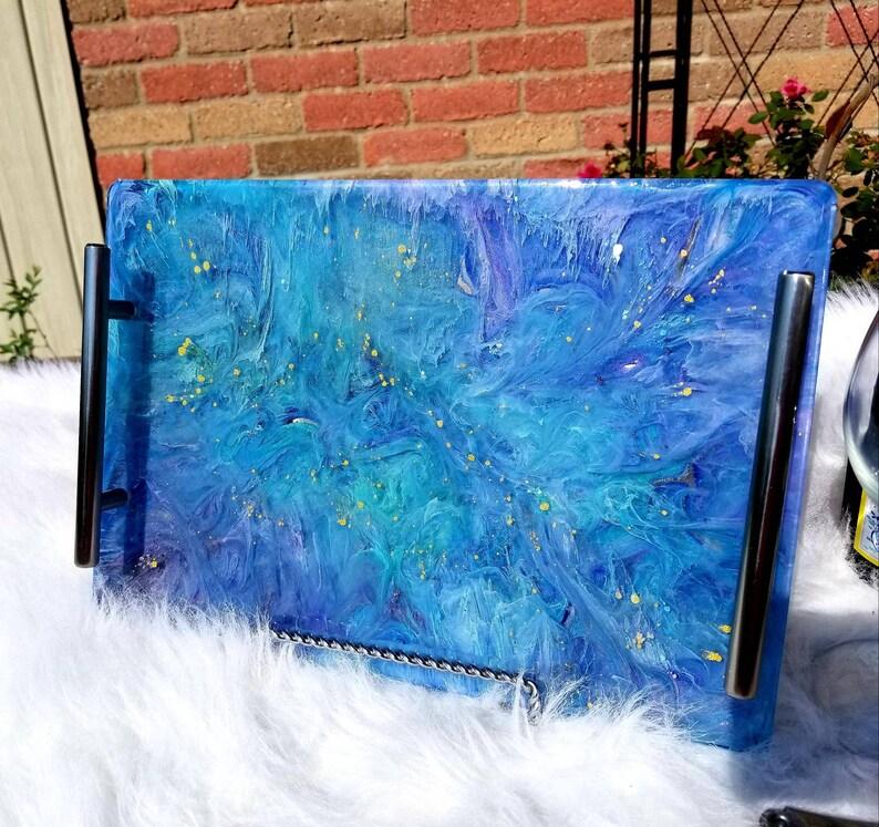 Resin serving tray Mermaid waters image 0