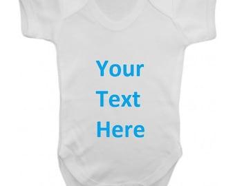 Custom Made Design - Baby Grow - baby shower bodysuit bespoke expectant mum  christening gift funny humourous cd7c7ab0f