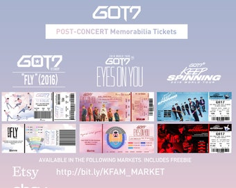 GOT7 World Tour Keep Spinning Concert Memorabilia | Etsy