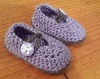Mary Janes - Purple and grey