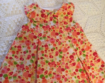 3-6 month Seersucker Baby Dress