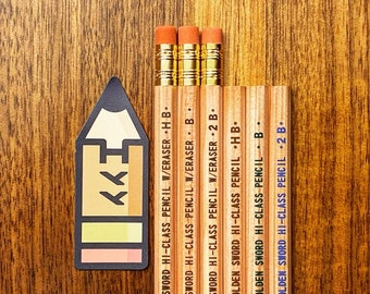 Japanese 3 x Kitaboshi Pencil Set: HB Japan Pencils B Cedar Wood with a Natural Finish Minimal Design Gifts for Architects 2B