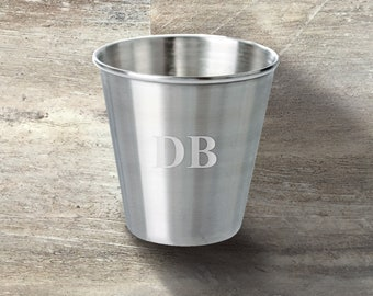 metal cups 1.7 oz  50 ml stainless steel Set of 9 personalized personalized shot glasses