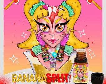 Banana Split! - Choco-bananalicious-ness, with strawberry and vanilla ice cream - Vegan Cruelty Free 10 ml Perfume Oil