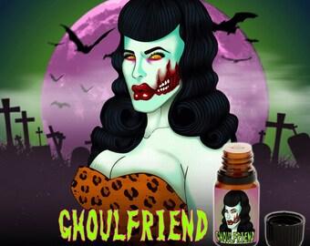 Ghoulfriend - Hot Peaches, Caramel, aged Honey, Skin Musk, White Chocolate, and Clove Buds - Vegan Cruelty Free 10 ml Perfume Oil