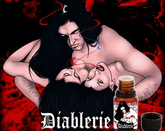 Diablerie - Dry Red Wine, Black Roses, Tobacco, Leather Pants, aged Honey, Cinnamon, Skin Musk - Vegan Cruelty Free 10 ml Perfume Oil