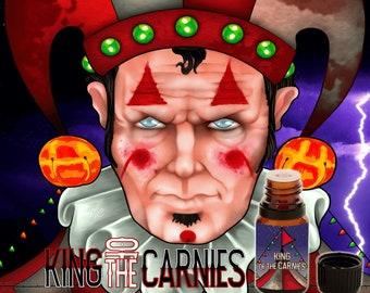 King of the Carnies - Pumpkin, Caramel Corn, Wood Smoke, Fried Dough, Bourbon, Leaves, Hay, Vetiver - Vegan Cruelty Free 10 ml Perfume Oil