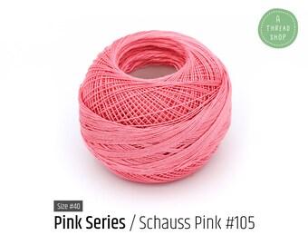 Cotton Thread Size #40 - Schauss Pink #105 - Pink Series - VENUS Crochet Thread - 100% Mercerized Cotton Thread