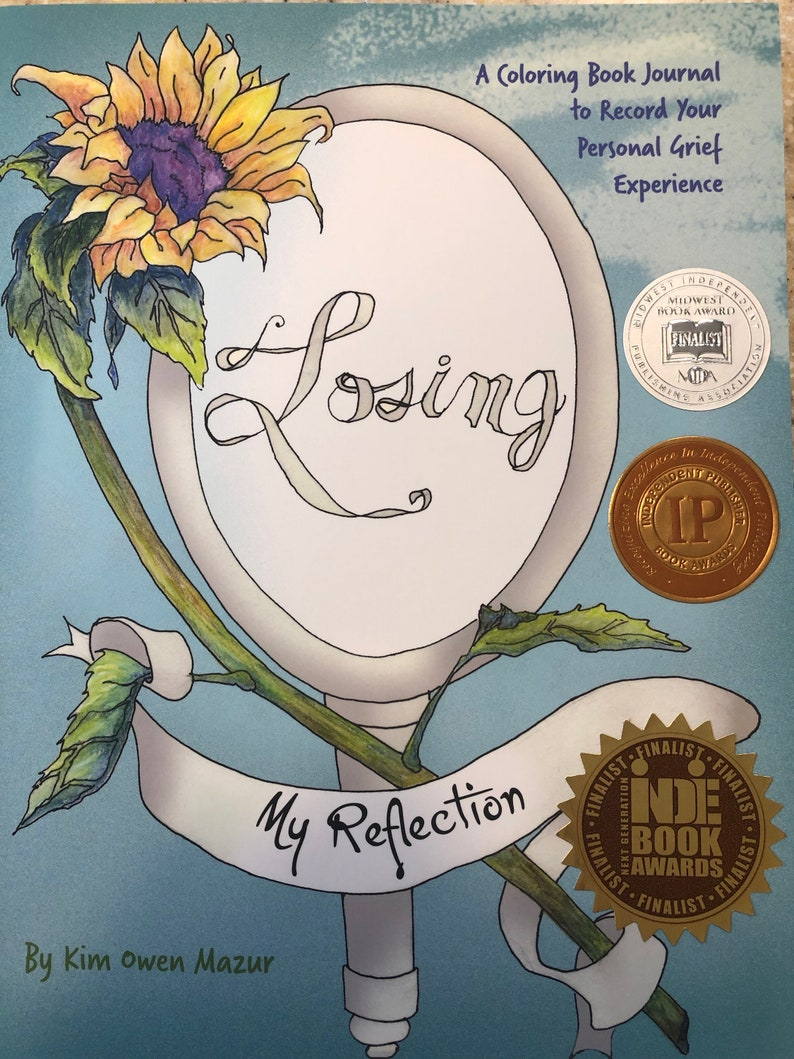 Losing My Reflection-A Grief Coloring Book Journal image 0