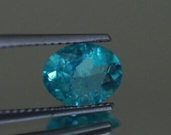 1.612CTS Top luster 100% Natural Super BLUE appatite -loose gemstone
