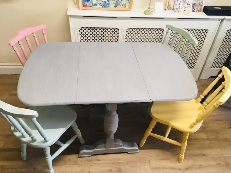 Fine Shabby Chic Chalk Paint Dining Table And Chairs Download Free Architecture Designs Scobabritishbridgeorg