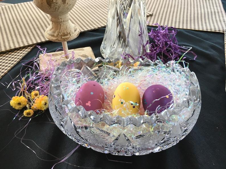 Purple Ceramic Easter Egg Basket