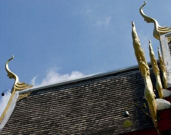 Unique Wall Art Metal Prints — Thai Buddhist Temple in Chiang Mai Thailand — metal wall art, metal photo prints, metal pictures, wall art
