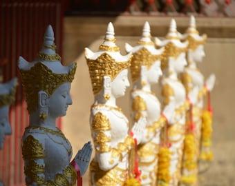 Buddhist Wall Art Metal Prints — Buddha pictures Chiang Mai Thailand — metal wall art, metal photo prints, photos on metal, metal pictures