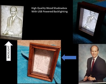 Custom 3D Lithographs Mounted in Wooden Shadowbox