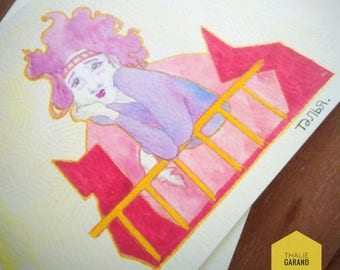 Brilliant handmade character Gouache & watercolor illustration