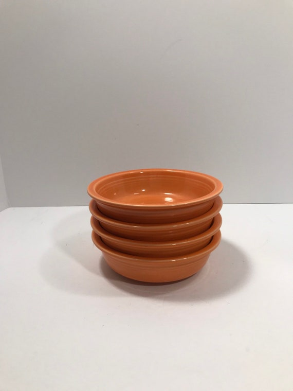 Vintage Homer Laughlin Fiesta Dinnerware Tangerine Soup Cereal Bowl
