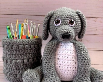 Amigurumi Dog Crochet Pattern, Amigurumi Crochet, Crochet Dog, Puppy Pot