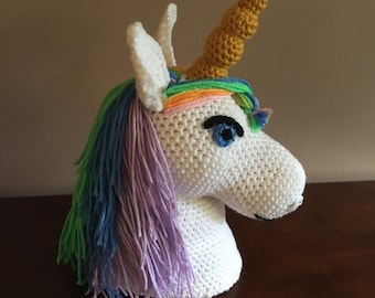 unicorn head pattern etsy
