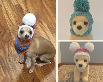 Small Dog Hat Bundle, Hua Headwarmer Bundle, Buy 2 get one 50% off, Dog hats, Crochet Hats for Dogs