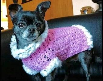 Crochet Pattern, Dog Sweater Crochet Pattern, Little Sweet Pea Dog Sweater