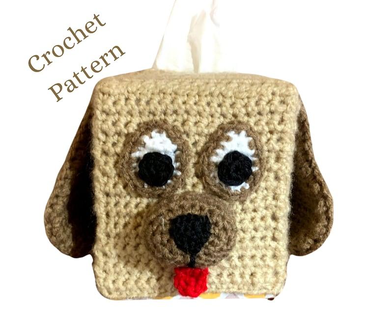 Crochet Pattern Dog Tissue Cover Crochet Tissue Cover image 0