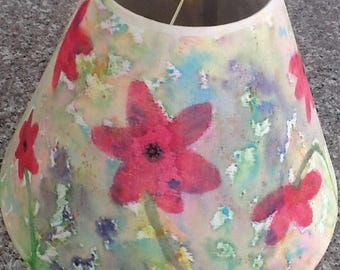 One of a Kind, Original Watercolor Painted Lampshade!