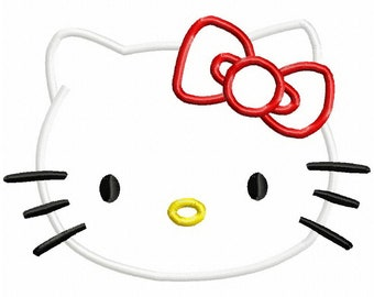 Hello kitty applique etsy