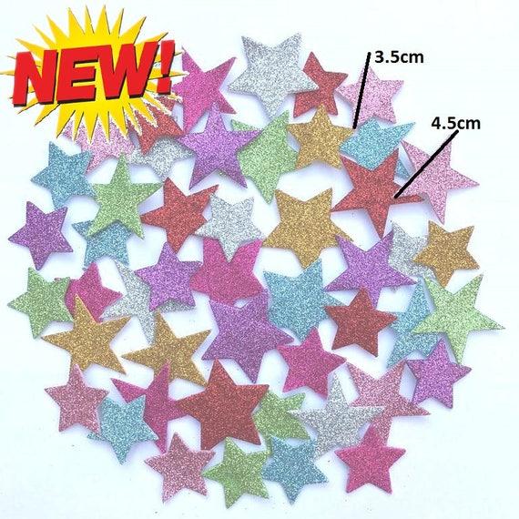 Self Adhesive Glittered Foam Stickers Arts /& Crafts Love Hearts Stars