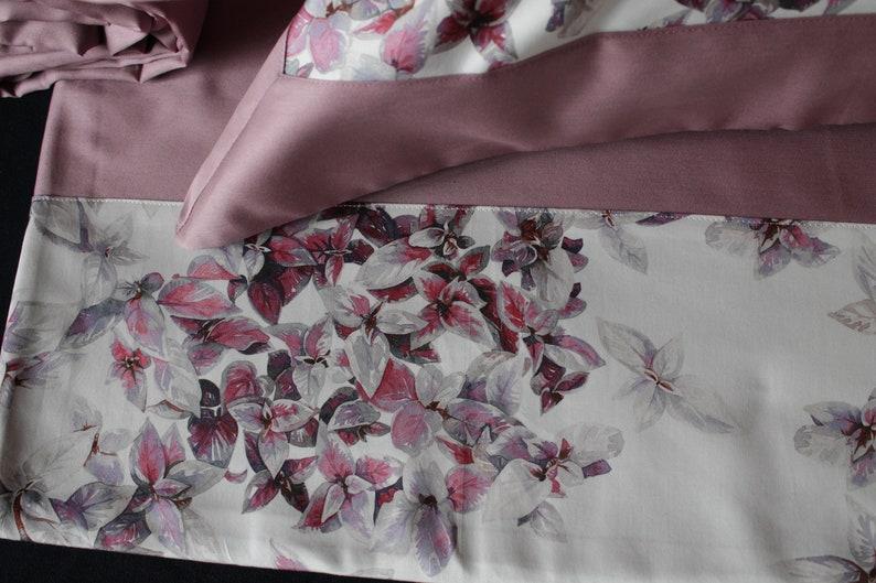 Satin bed sheet set pink bedding Wedding gift Italian bedding floral bedding pillow cases Very soft sateen flat sheet+fitted sheet