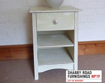 Shabby Chic Cottage Style Bedside Cabinet