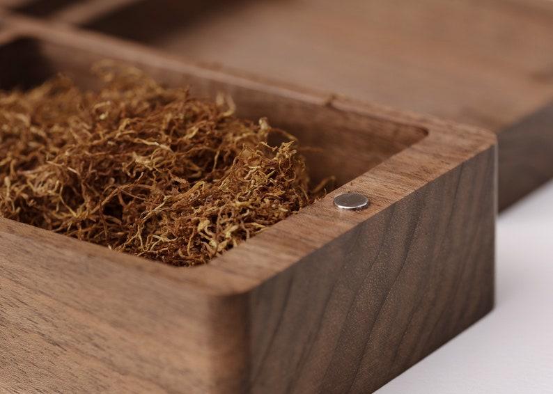 Superior walnut tobacco box