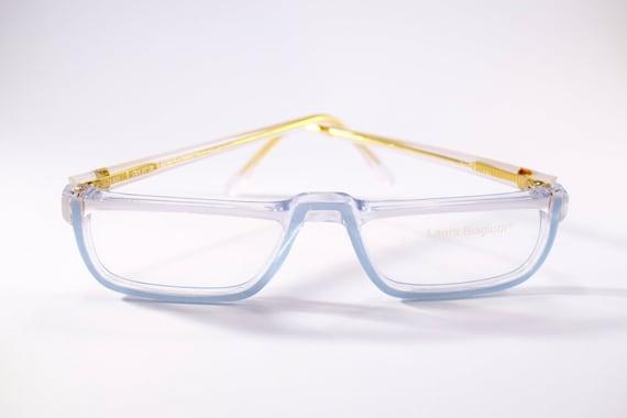 Laura Biagiotti vintage light blue eyewear from 80s