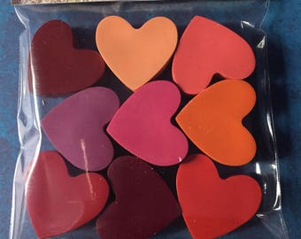 Heart crayons set of 9