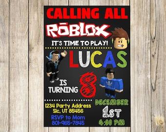 Roblox Birthday Invitation Party Theme Printed Printable Invite