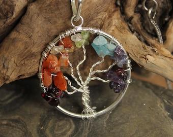 Brass tree of life Necklace, Boho Necklace, Tribal Necklace, Gypsy Necklace