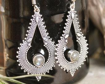 Brass  earring , Boho Earring , Tribal Earring , Gypsy Earring