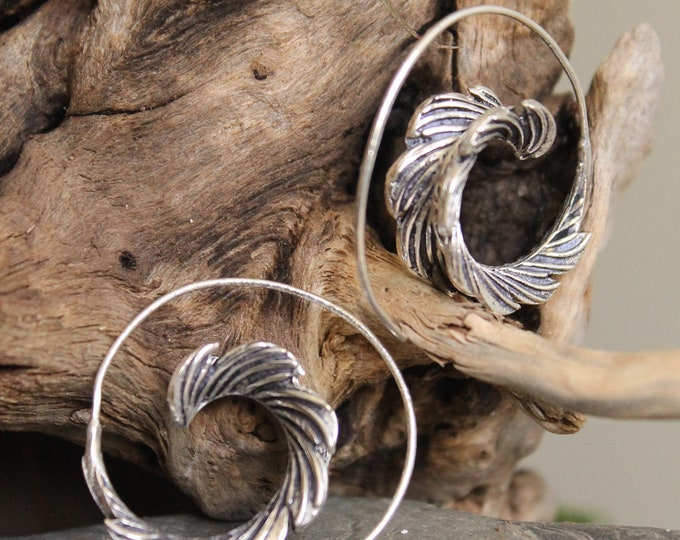Brass Spiral Earring , Tribal EarringBoho Earring , Tribal Earring , Gypsy Earring