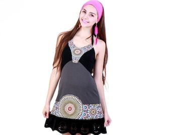 Bohemian Dress, Short Dress, Sun Dress, Summer Dress