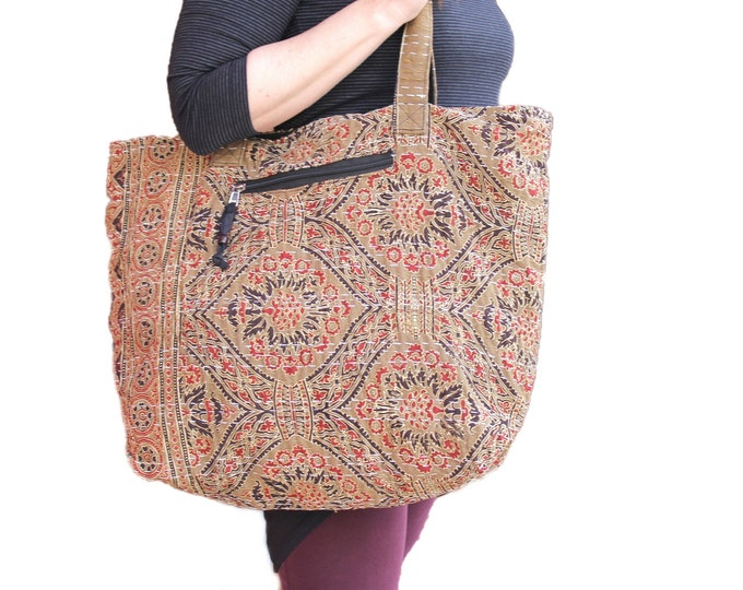 Handmade tote bag-boho tote bag-shopping bag