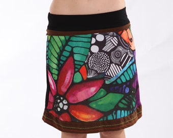 Bohemian Style, Festival Skirt, Fun Skirt, Office Skirt, Beach Wear, Summer Skirt