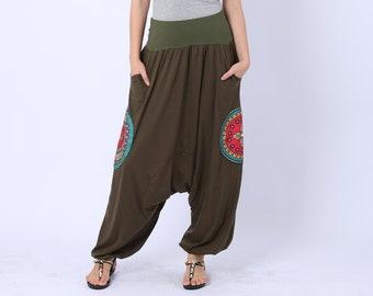 Harem pants, Aladdin pants, Hippie pants, Yoga pants, festival pants