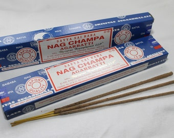Nag Champa Incense sticks - for Meditation , Yoga , Healing , naturally Rolled