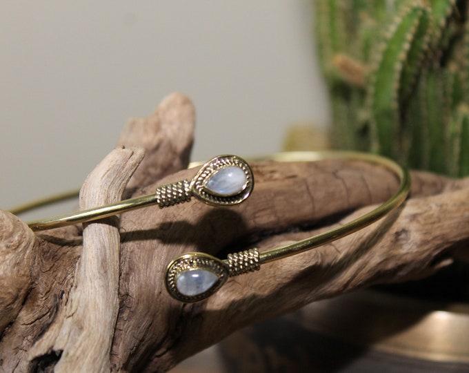 Arm Cuff Bracelet with semi precious stones
