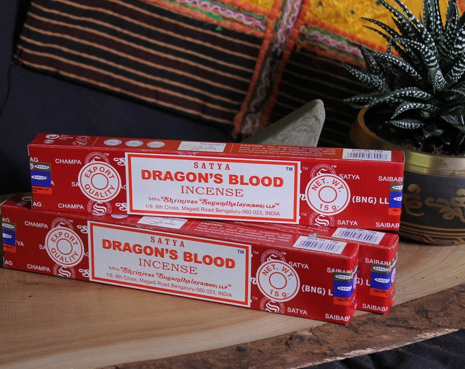 Dragon's Blood Incense sticks - for Meditation , Yoga , Healing , naturally Rolled